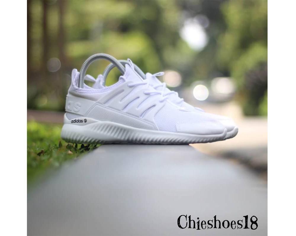 Sepatu Sneakers Adidas Alphabounce Tubular Warna Putih Polos