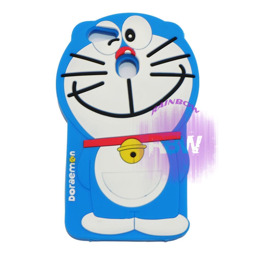Rainbow Silicone 3D Case Oppo F5 / Soft Case Boneka Lucu / Casing Doraemon Oppo F5 / Case Hp / Silikon Casing / Casing Oppo F5 - Doraemon Biru