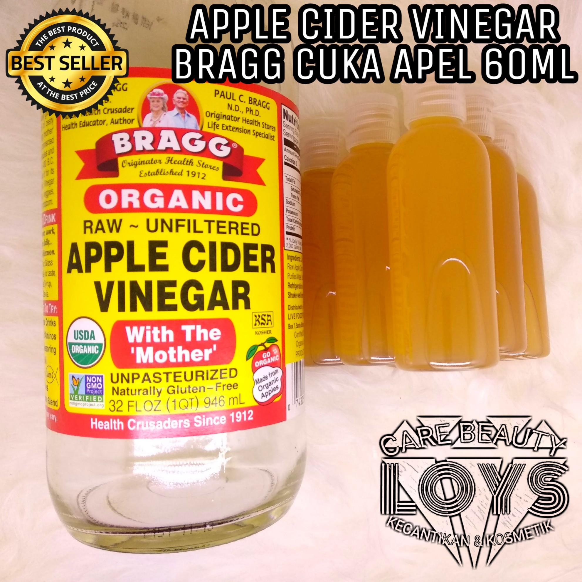 Bragg Apple Cider Vinegar ( Cuka Apel ) Original - share in jar 60 ml -