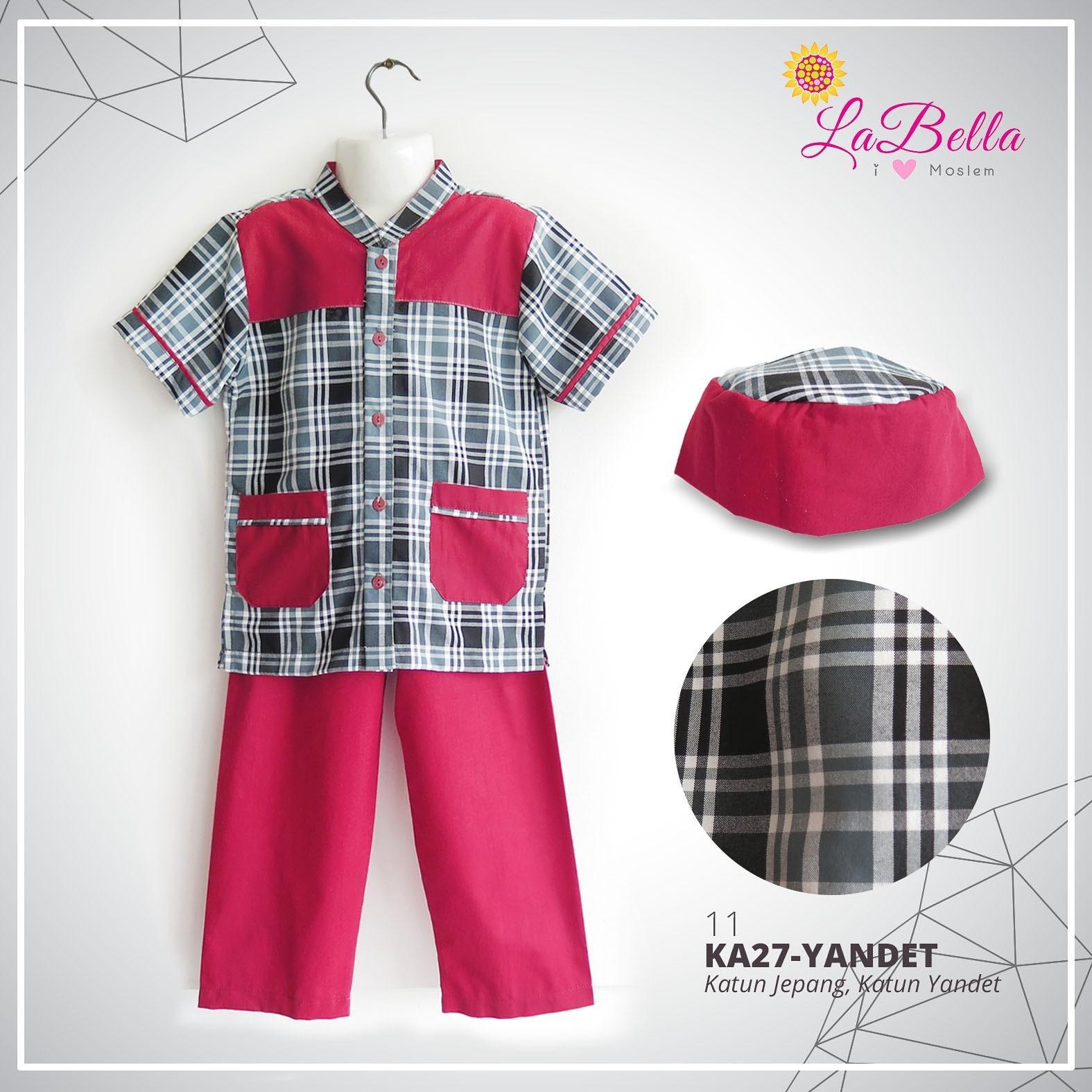 Koko Anak 2-7th LaBella Katun Jepang Merah