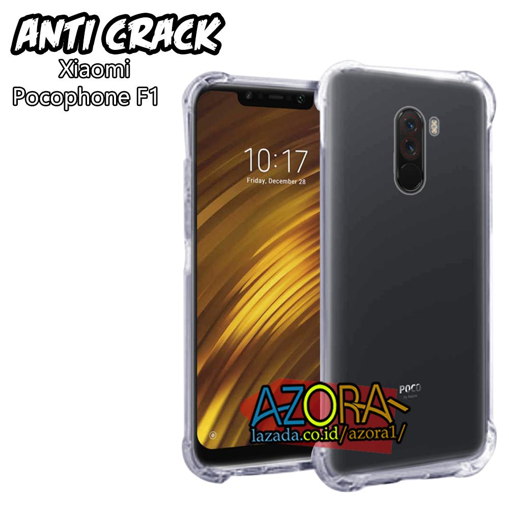Case Anti Crack Xiaomi Pocophone F1 ( Poco ) Master Of Speed Ultra Thin Anti Shock Jelly Silikon Shockproof Softcase Azora - Bening