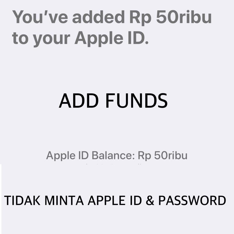 Itunes Gift Card Igc Deposit Rp. 50.000 Indonesia Metode Add Funds - Toko Igc By Toko Igc.