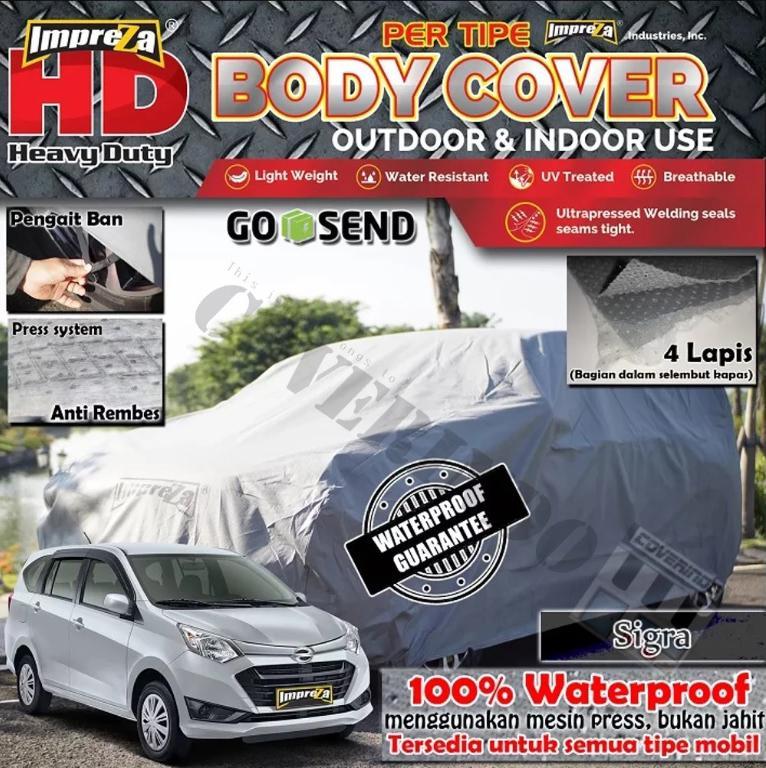 IMPREZA HD Body Cover 100% Waterproof Sigra/Calya - 4 Lapis - Direkomendasikan untuk
