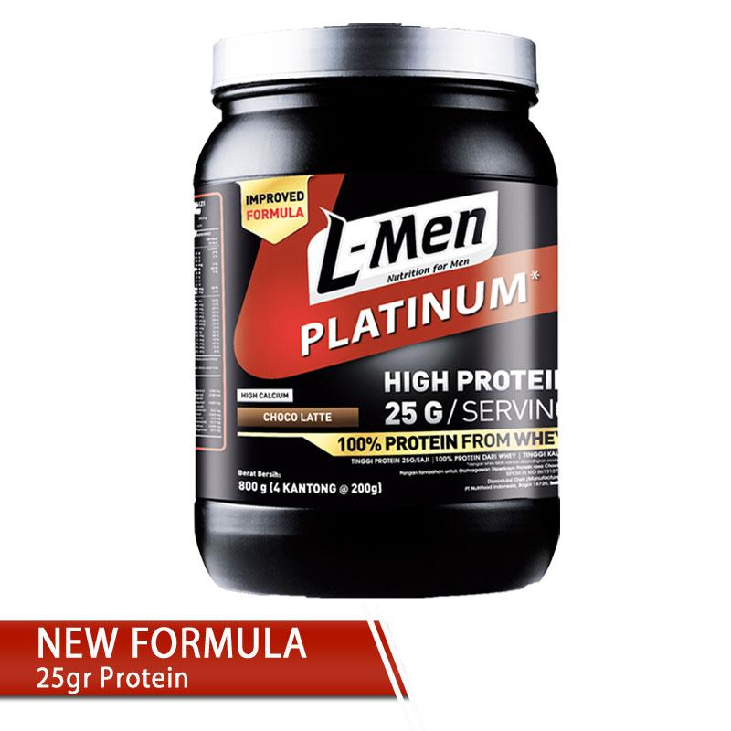 L-Men Platinum 800gr (25gr Protein) By Nutrifood Indonesia.