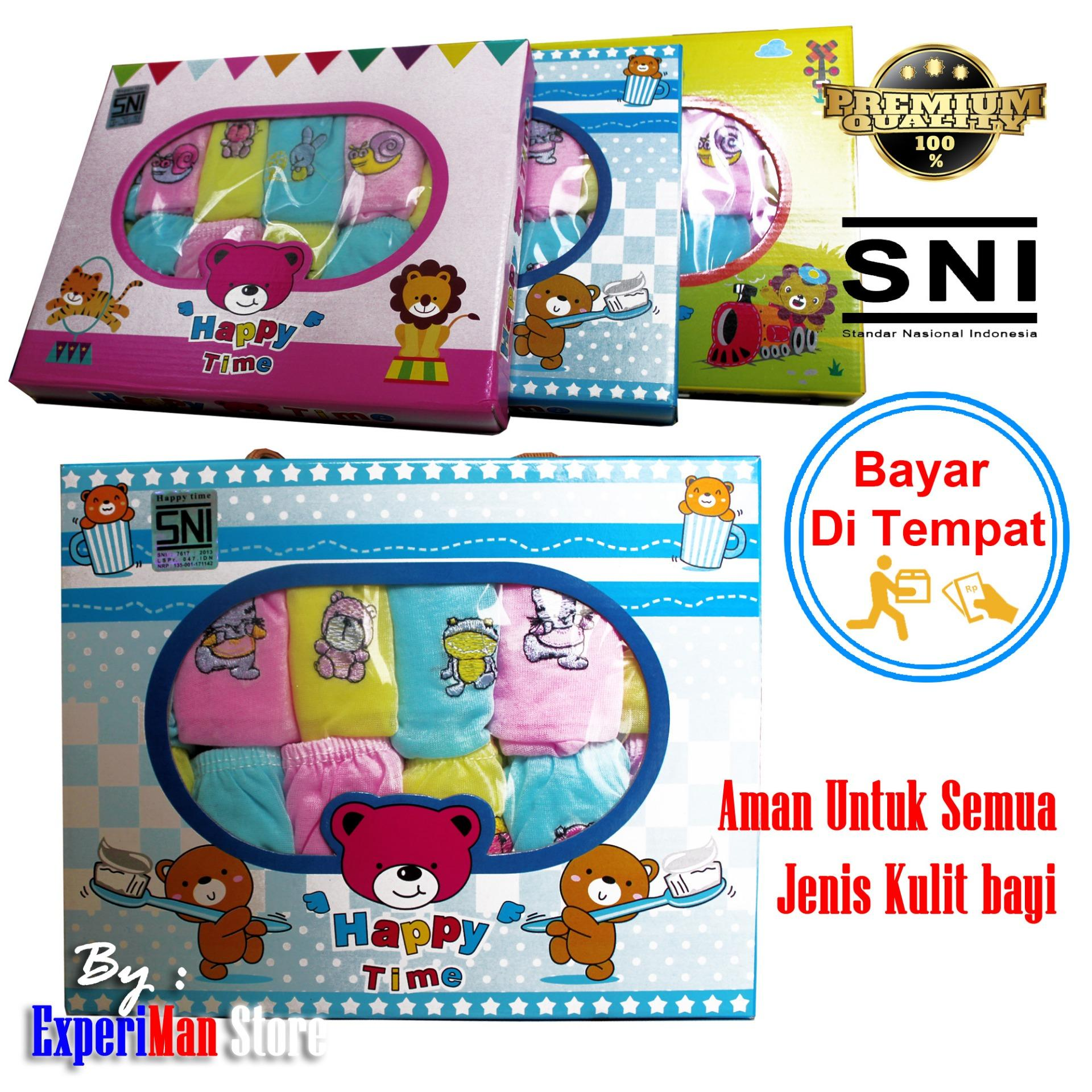 12 Pcs Celana Pop Bayi Happy Time By Experiman Store.