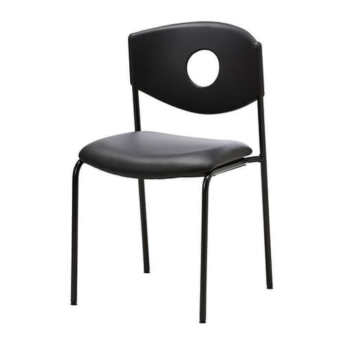 IKEASTOLJAN Kursi rapat, hitam