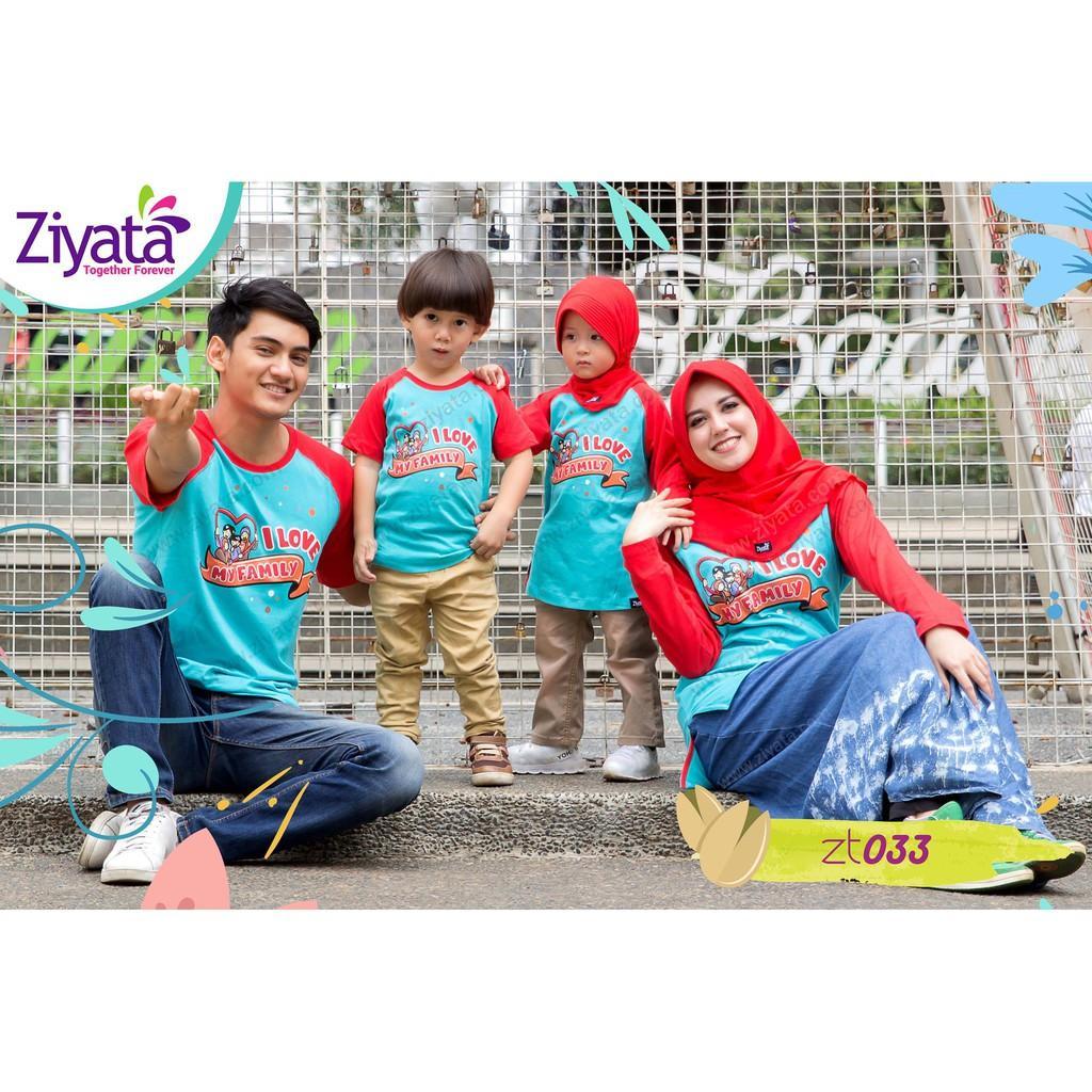 kaos baju keluarga muslim  ZIYATA family terbaru 2018 ayah ibu anak cowo cewe (Laki-laki 10)