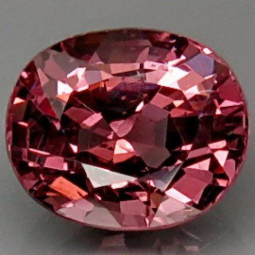 YenzShop SL099 Oval 1.47ct 7.2x6mm Natural Unheated Imperial Pink Spinel Tanzania