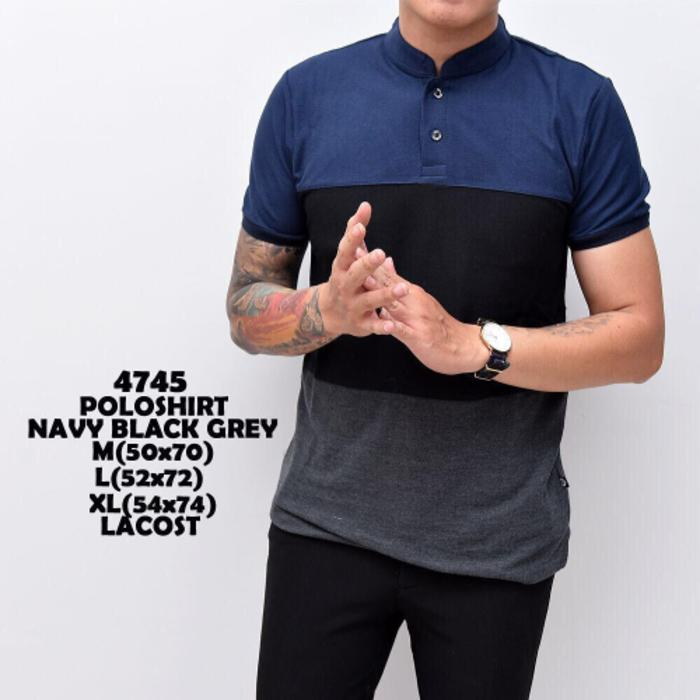 kaos pria | kaos polo navy black grey - 6kw2LV