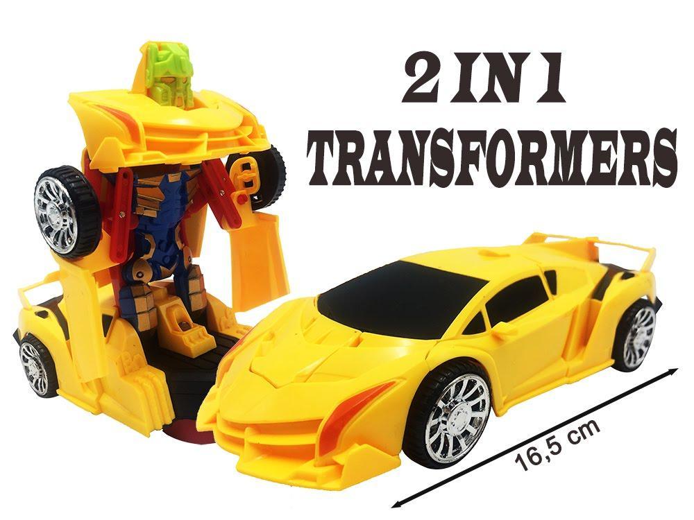RKJ Mainan Anak Mobil Baterai Robot Transformer Super Car Lambo - 3 Warna 2b918a248f