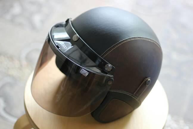 Helm Bogo FLAT - Helm Kulit Kaca Bogo Original (Bukan KW) - Coklat HTM