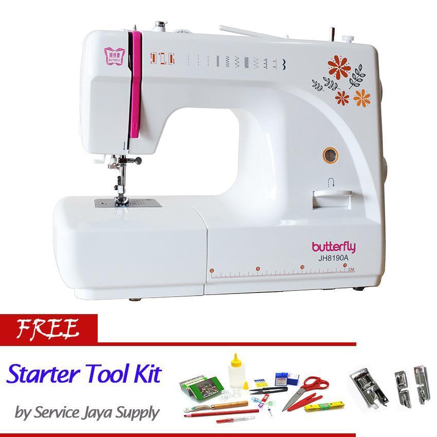 Butterfly JH 8190A Mesin Jahit Portable +FREE SJS Starter Kit