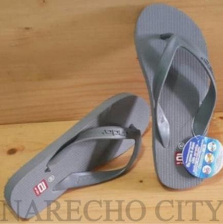 Sandal Ando Sendal Jepit Pria Hawaii Like - Ando Polos Narecho City Warna Abu Size 38-42
