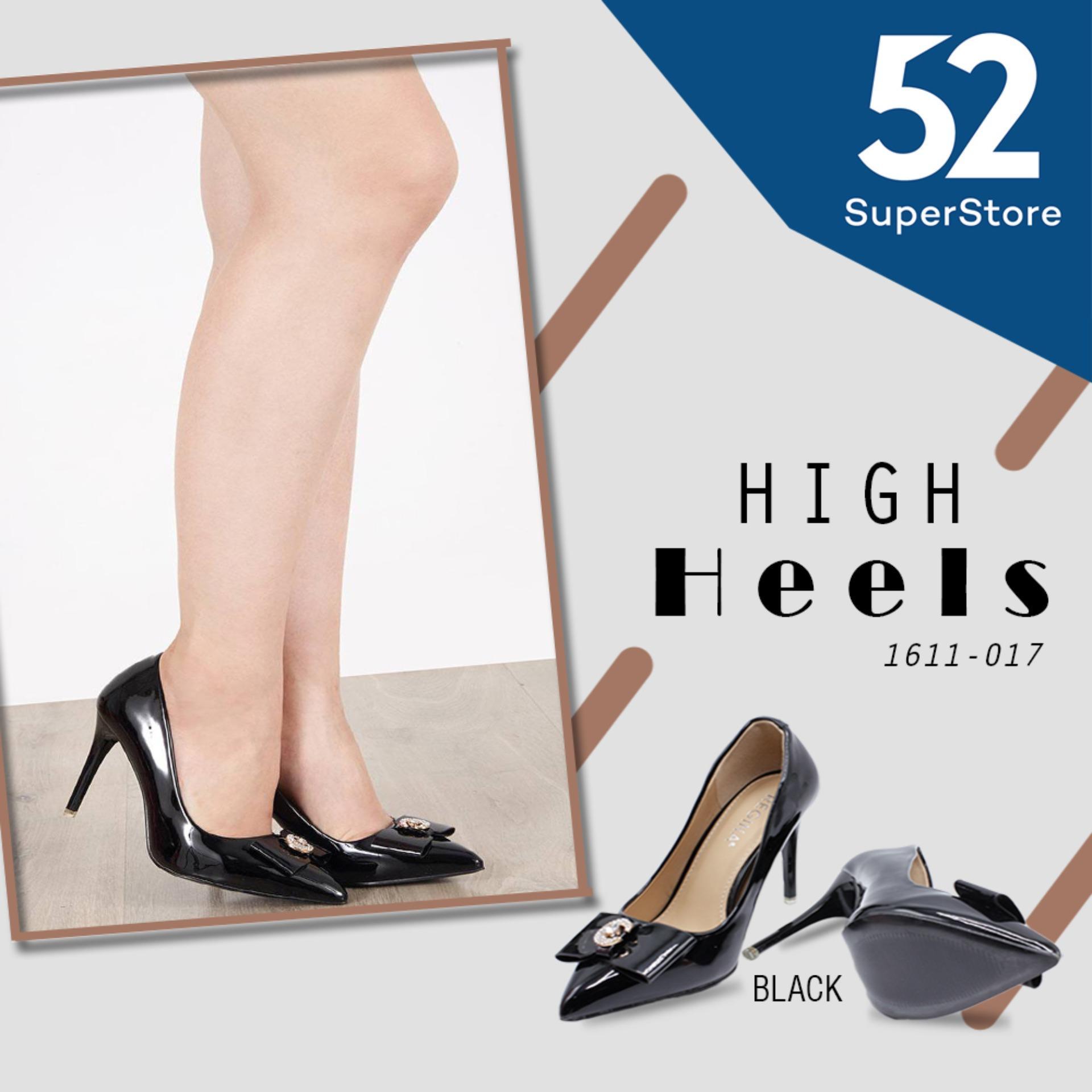 Regina Sepatu Pantofel / High Heels Wanita 1611-017 - Black (HAK 9 cm)