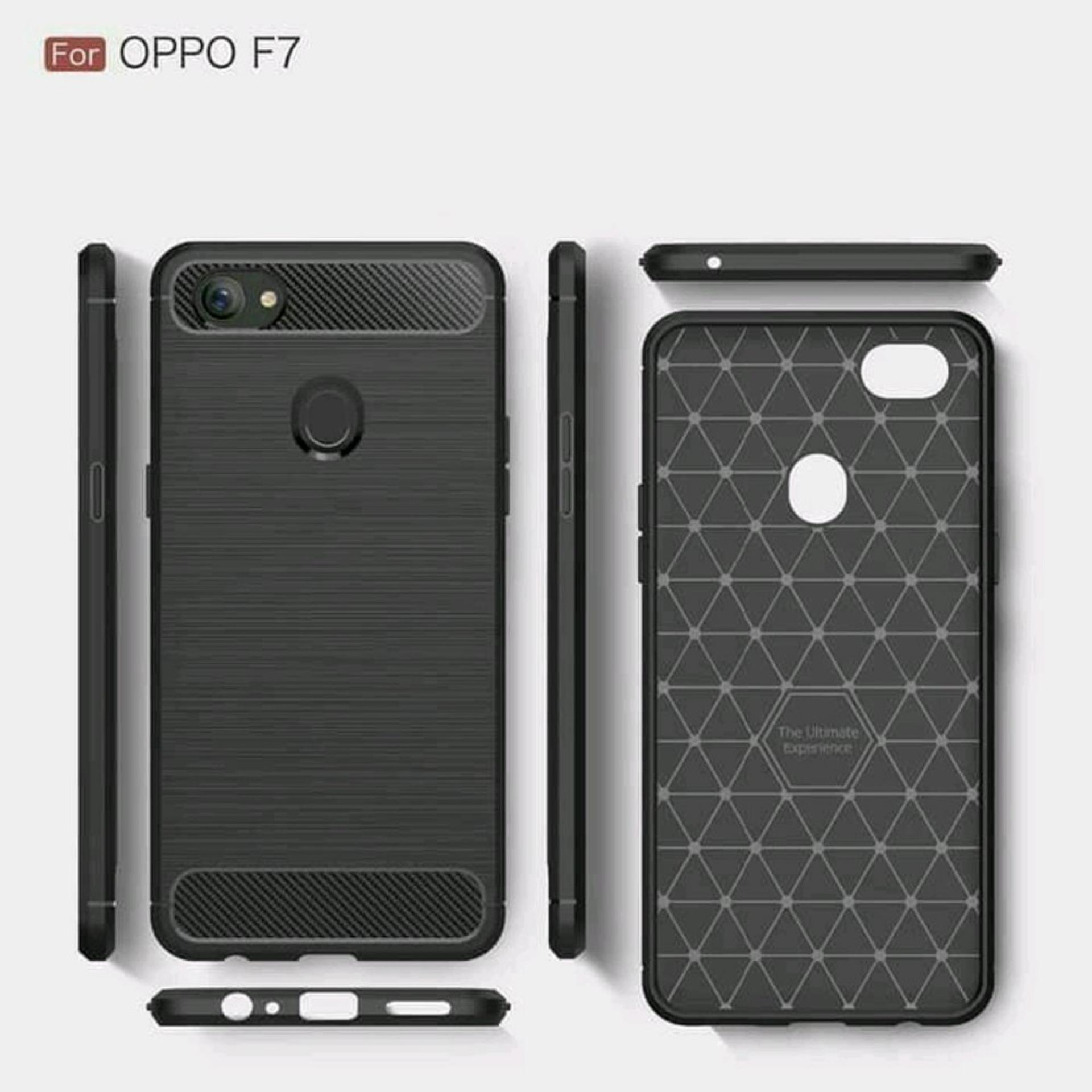 LOLLYPOP Back case Brused Series Oppo A83 Black Hitam TPU Jelly Silcone Softcase Backcover Shockproof