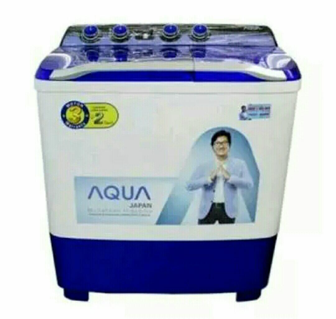 AQUA - Mesin Cuci 2 Tabung 8Kg 880XT - Putih Biru