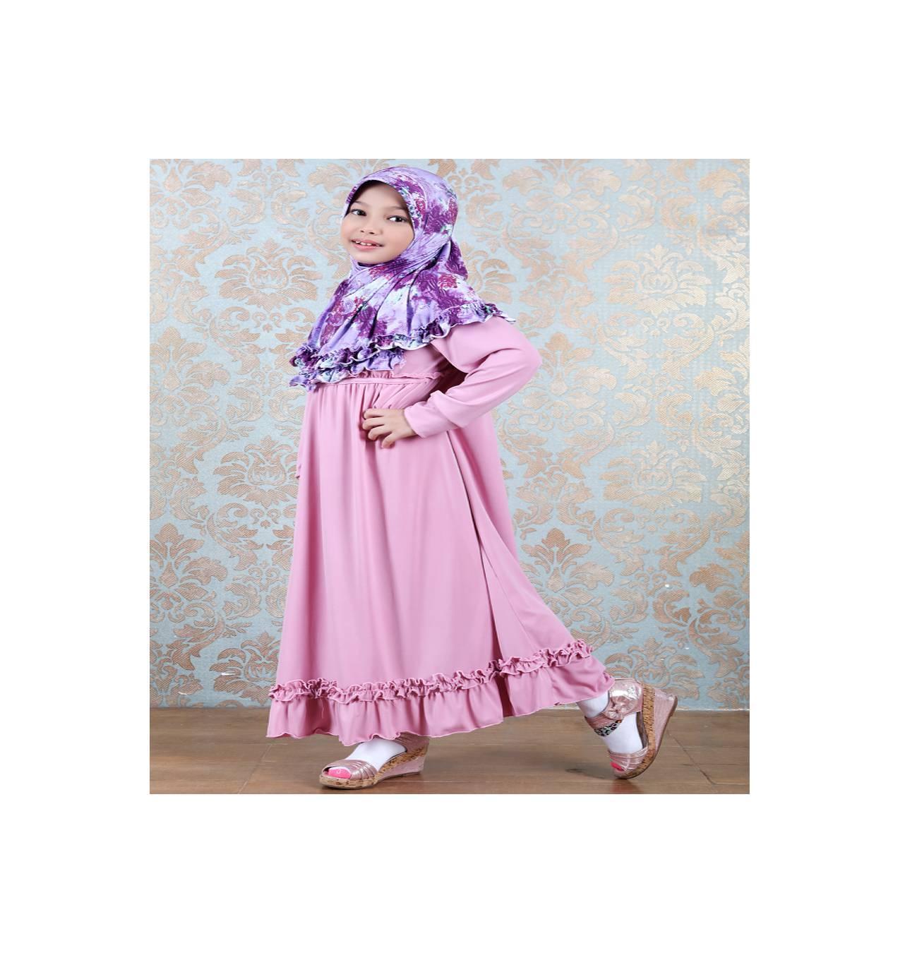 Azka Gamis Anak Shalimar Ga02 - Pink (l-xl)