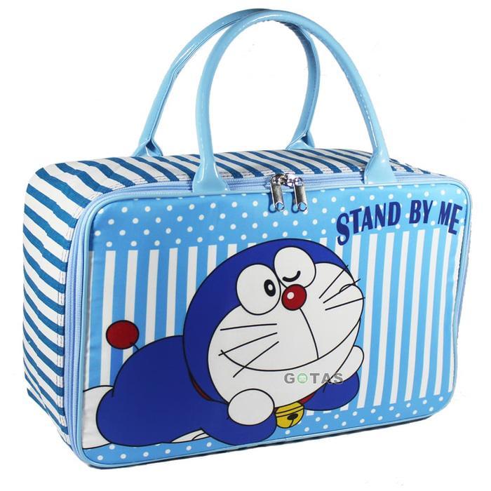 Bgc Travel Bag Kanvas 2 Sleting Gliter Hello Kitty Set Gembok Kunci ... -