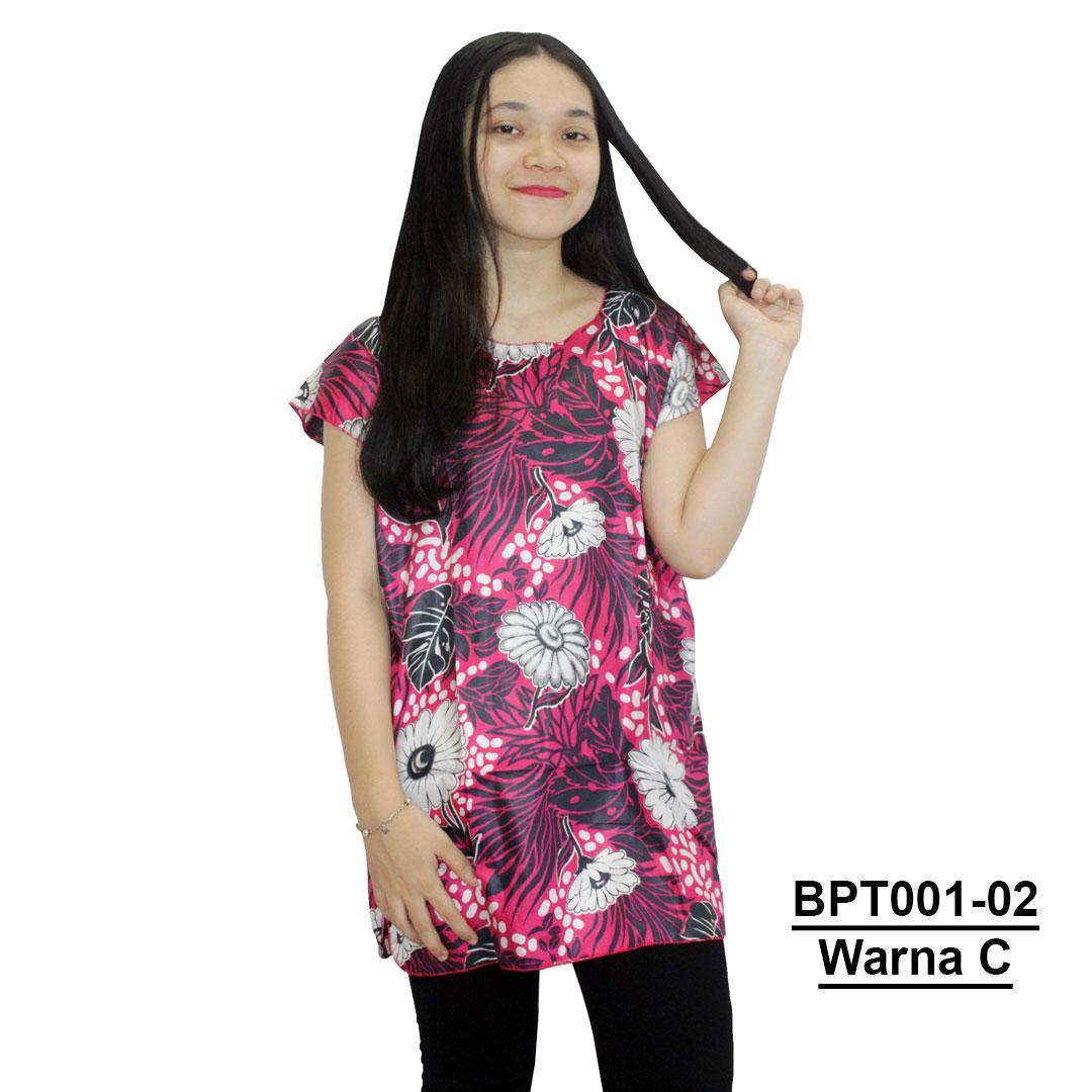 Blus Santai, Baju Tidur, Piyama, Daster Batik, Atasan Batik (BPT001-02) Batik Alhadi