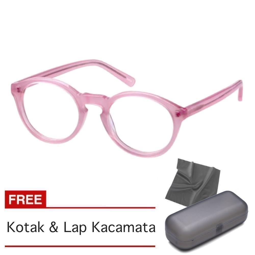 Kacamata Pria Wanita Bulat Korea Transparant