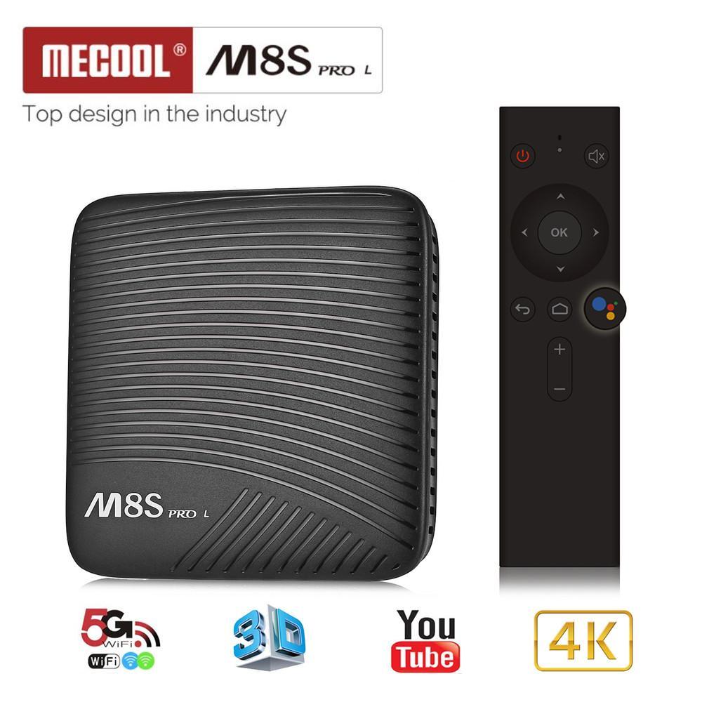 Mecool M8S Pro L 4 K Kotak TV 3 GB RAM 16 GB ROM Android 7.1 Amlogic S912 3D Smart TV HD Kotak perangkat Bluetooth-Top Kotak HDMI Pemutar Media Rumah