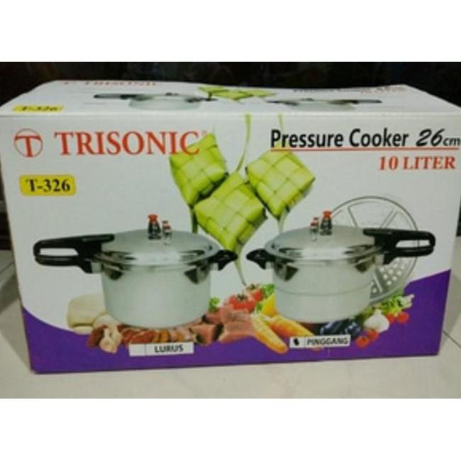 Promo !! Panci Presto Pressure Cooke 10Liter Trisonik T-326 / Pressure Cooke - Stok Terbatas !!