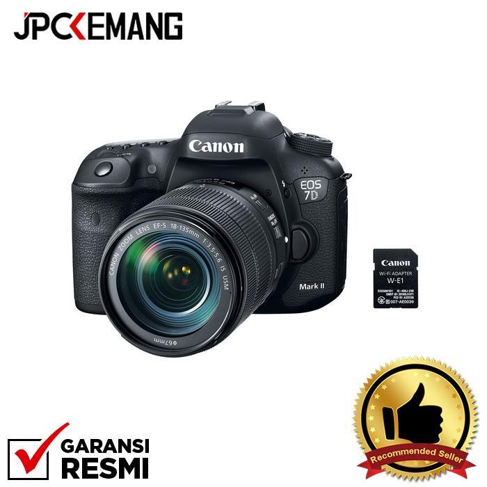 Canon EOS 7D II kit 18-135mm + W-E1 Wifi jpckemang GARANSI RESMI
