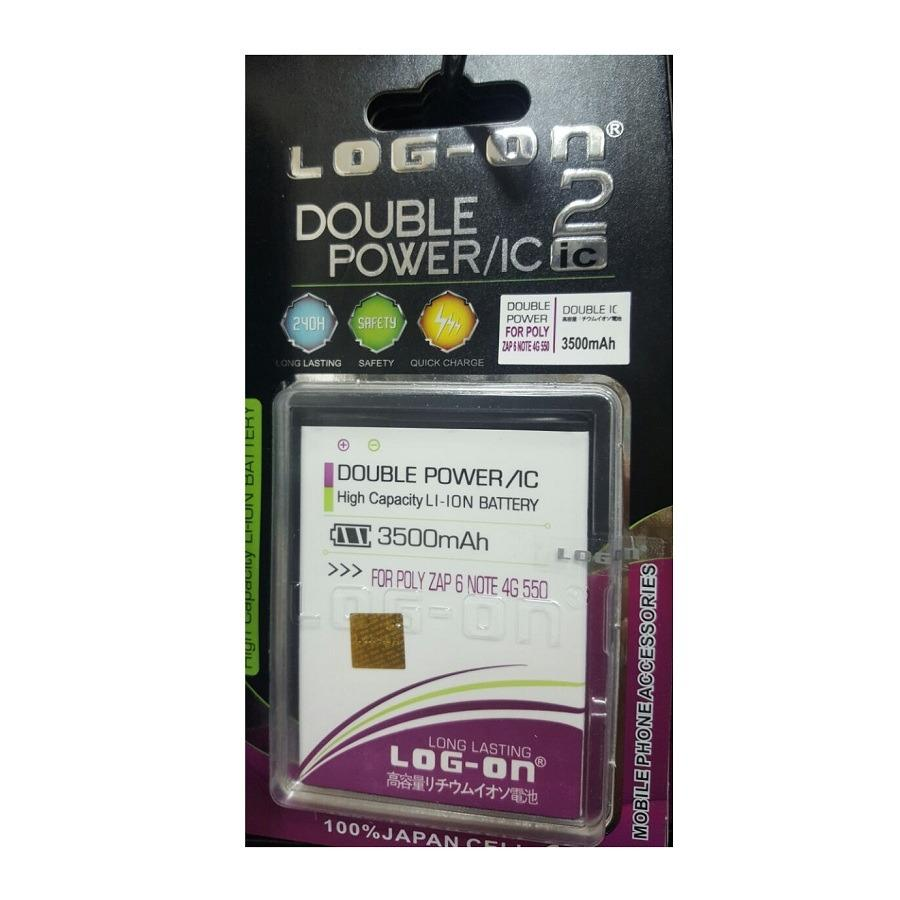 Log On Double Power Baterai Polytron Zap 6 Note 4G 550  [3500 mAh]
