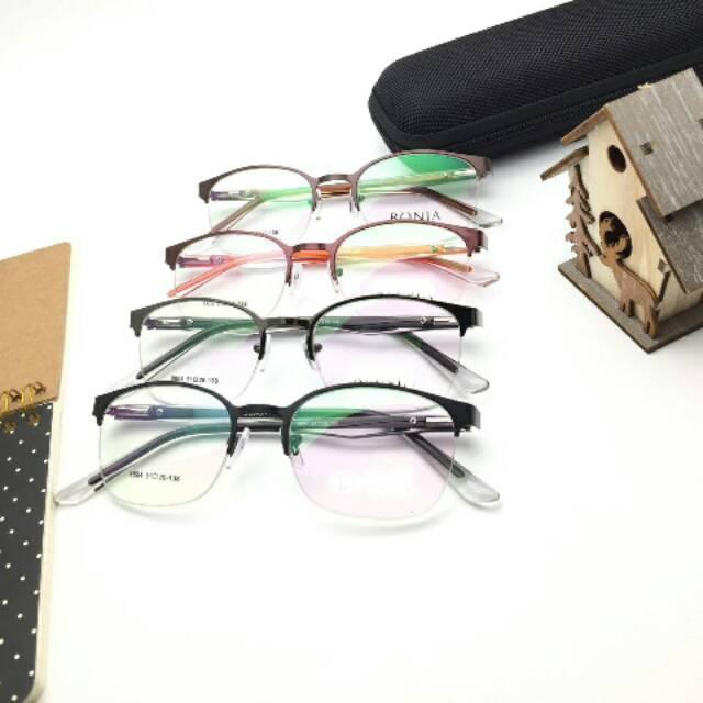 Frame Kacamata 8804 | Gratis Lensa Minus | Kacamata Antiradiasi Variasi GREY+LENSA