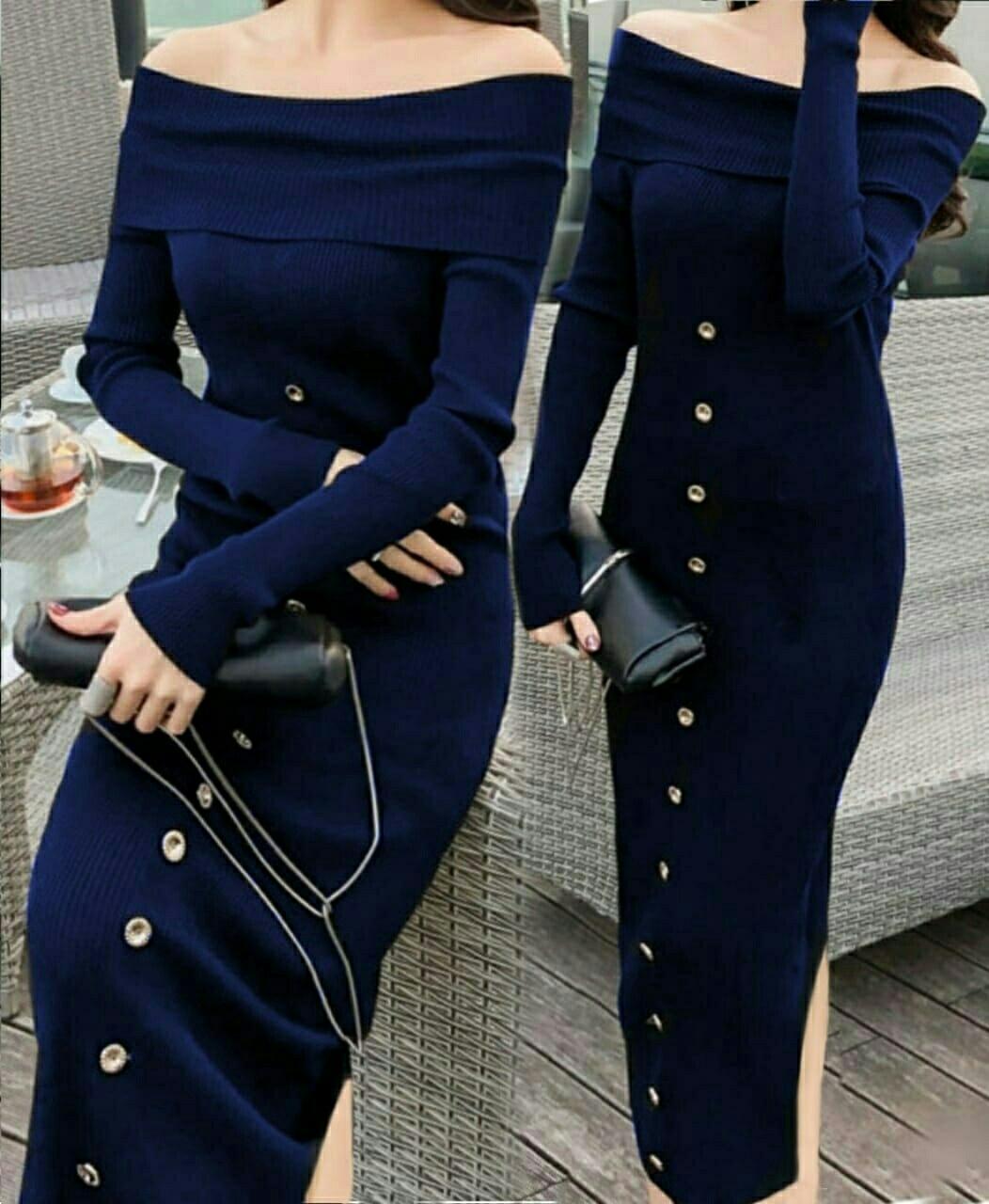 HSNFashion Dress Wanita    Baju Rajut    Dress Pesta    Pakaian Wanita   ce12d38e49