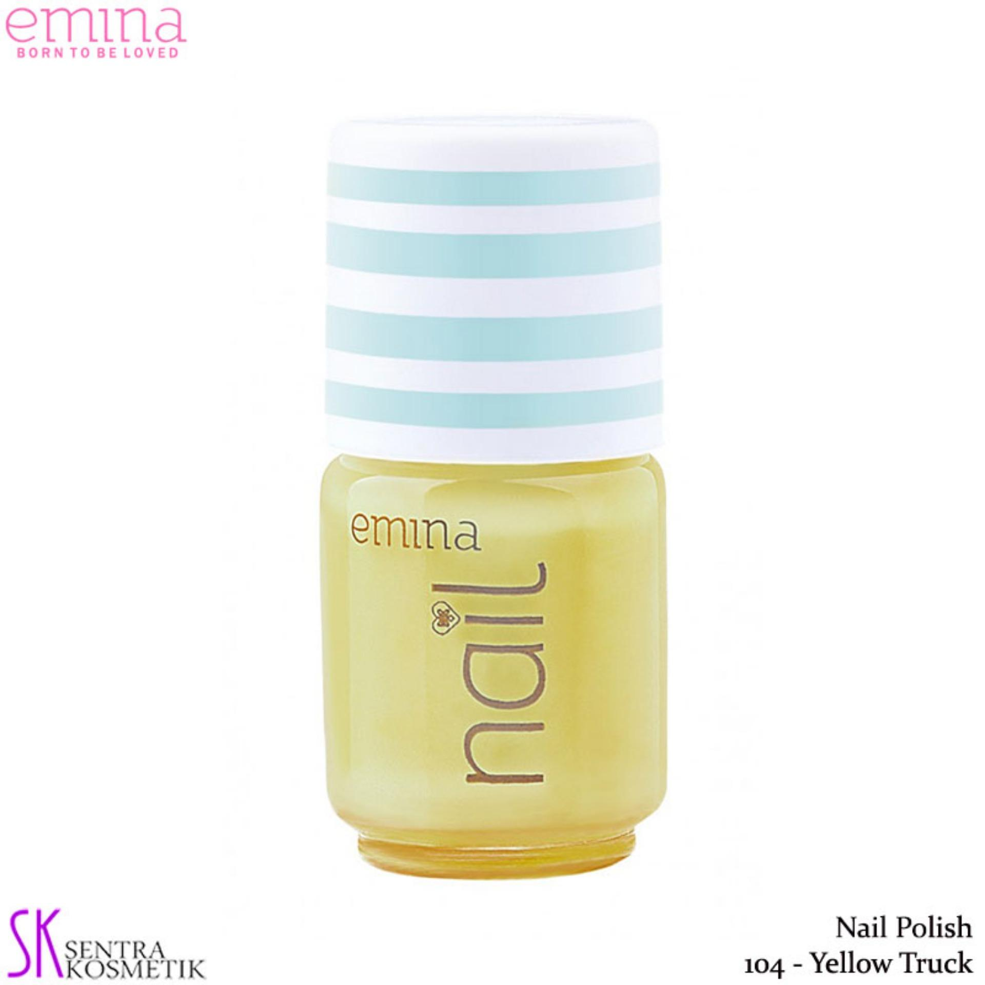 Emina Nail Polish Water Base 104 Yellow Truck - 5 Ml By Sentra Kosmetik.