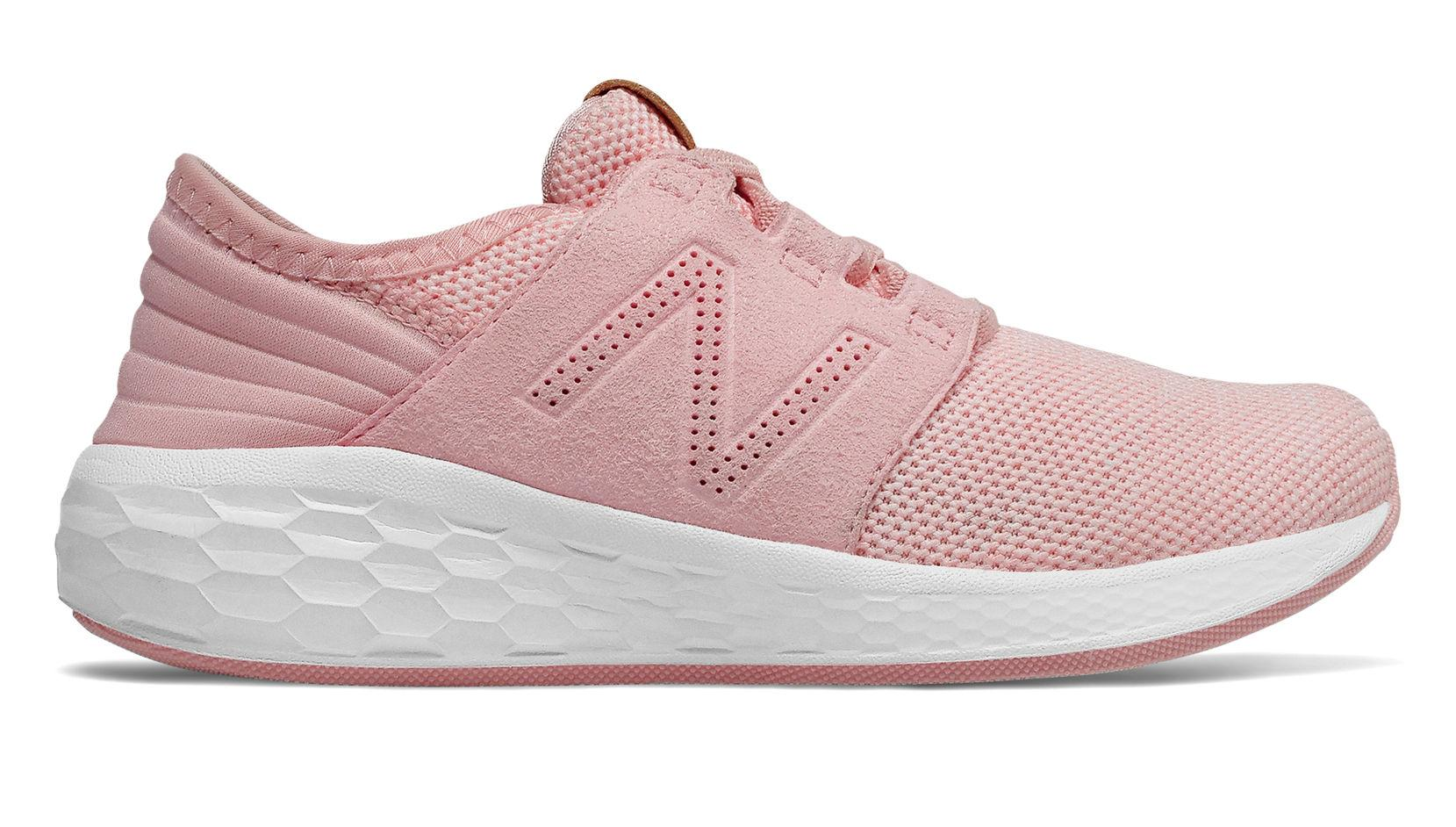 New Balance Fresh Foam Cruz Knit Sepatu Olahraga Anak Perempuan - Pink 85600f894e