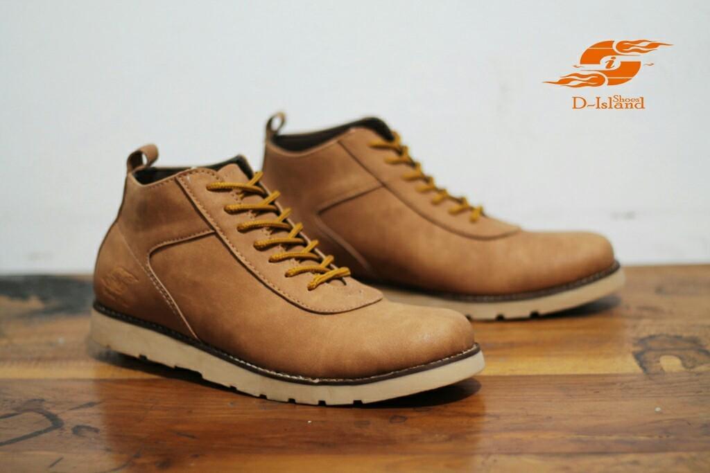 sepatu boots pria kulit D island brodo series