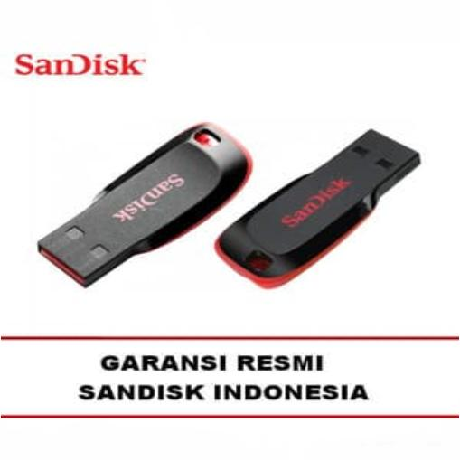 Sandisk Flashdisc Flashdisk USB Flash Drive Cruzer Blade 16GB Gb Ori Original Asli