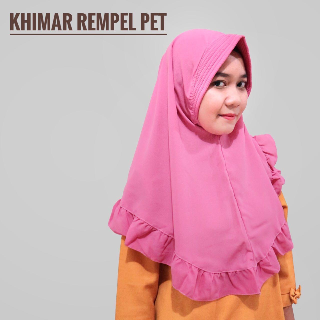 Rempel Pet Khimar  jilbab wolfis  kerudung rempel