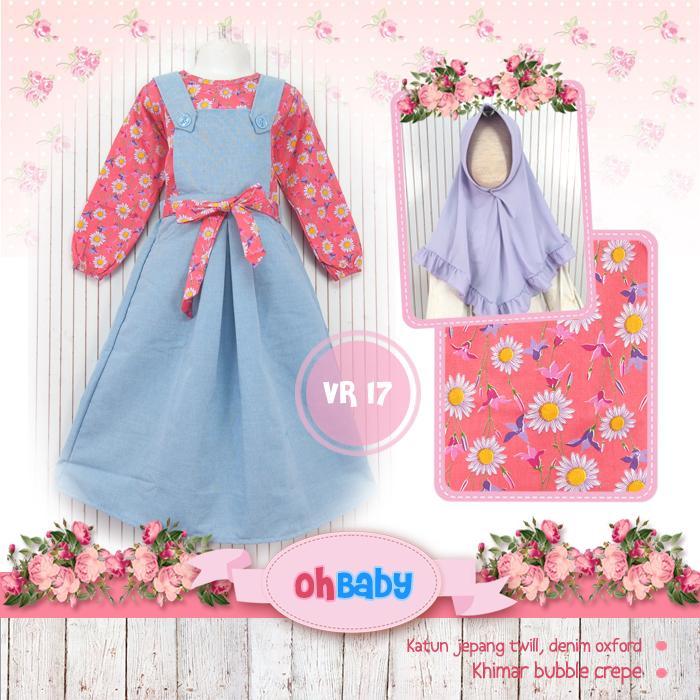 Overall Rok Denim OhBaby VR17 - Baju Anak Muslim Cantik