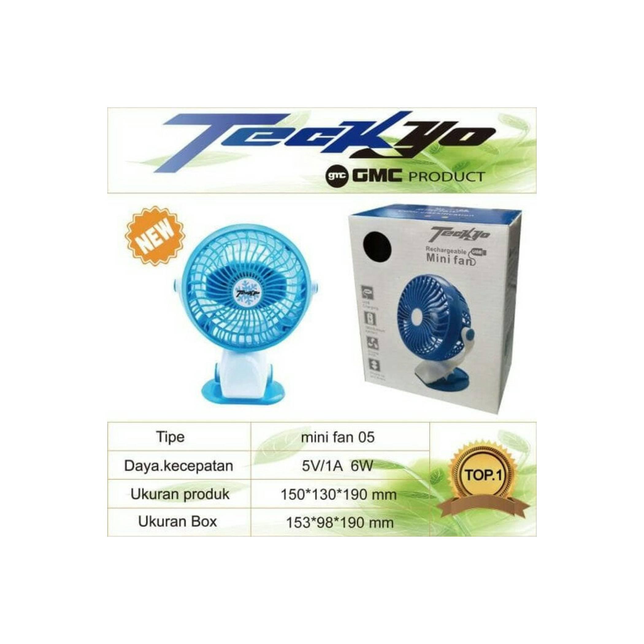 GMC produk teckyo mini fan 05 Kipas Angin Mini Jepit kecil cas charge