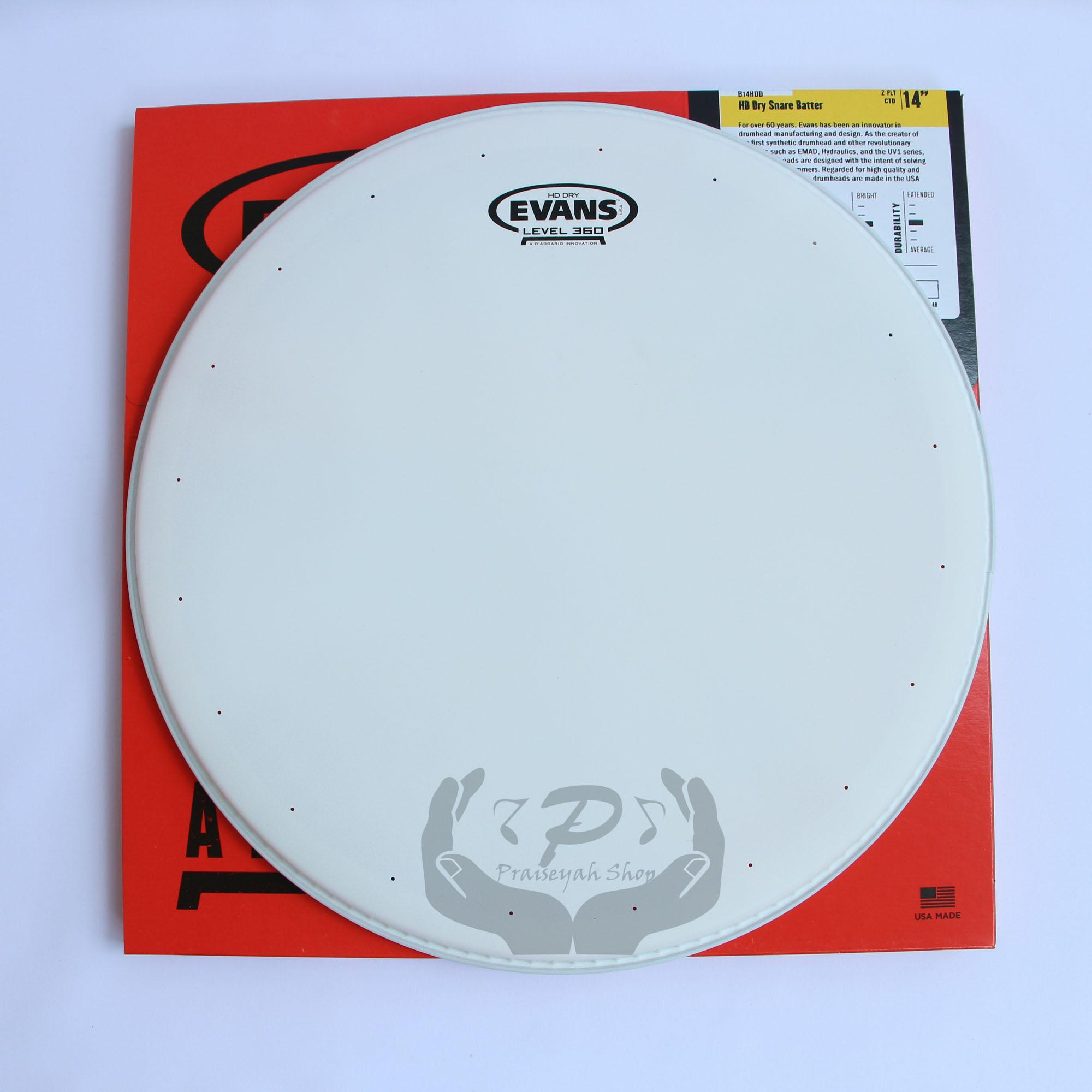 Evans HD Dry Snare 14 Inch (Batter / Head Atas) Head Drum 2 Ply