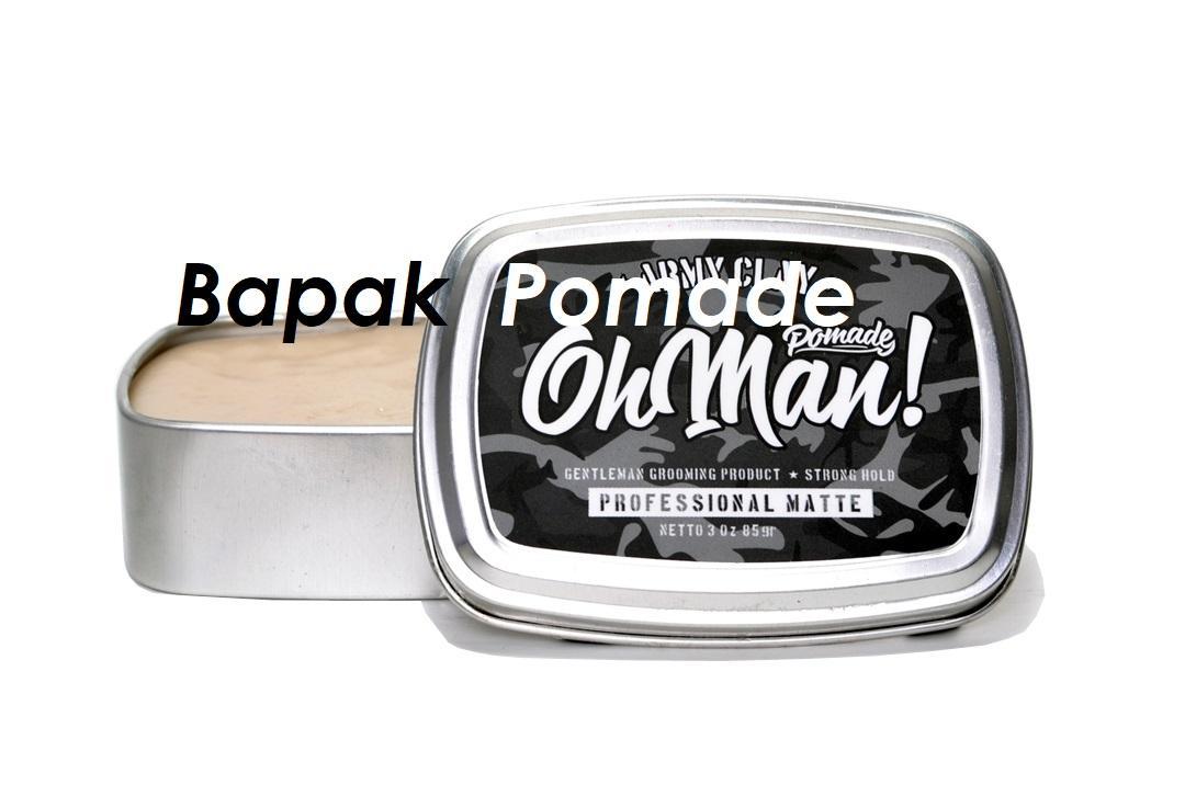 Pomade Oh Man Army Clay The Proffesional Matte Waterbased 85 Gram FREE SISIR SAKU