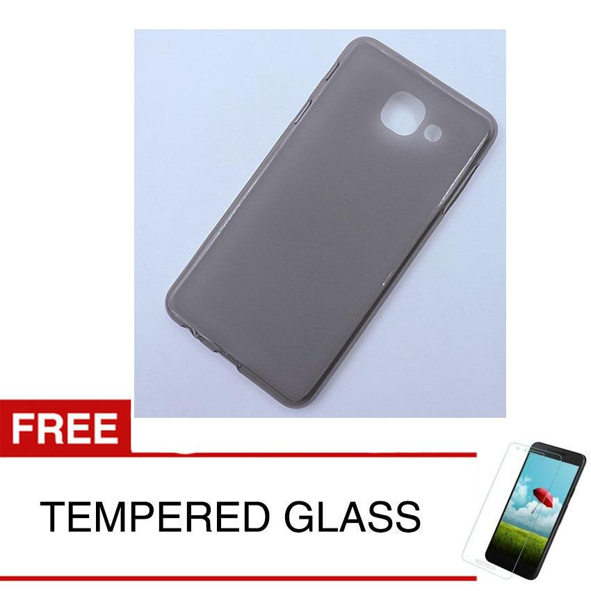 Case for Samsung Galaxy J7 MAX 2018 / G615 - Abu-abu + Gratis Tempered Glass - Ultra Thin Soft Case