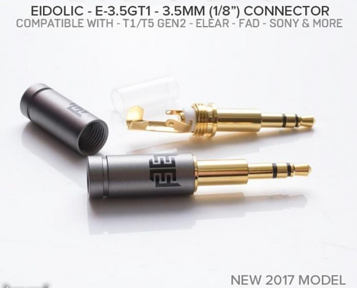 Harga Diskon!! Eidolic E3.5Gt1 Mini 3.5Mm Trs Gold Beyerdynamic T1 Beyer T5 Connector - ready stock