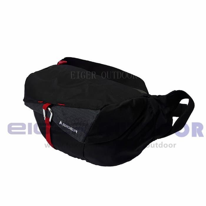 HARGA PROMO!!! Tas Pinggang Eiger 4139 Ascenda Black - Tas Selempang / Waist Bag - Hitam