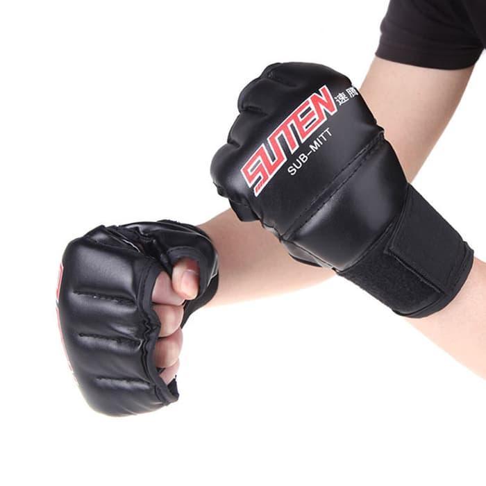 ASLI!!! Sarung Tangan Tinju Boxing MMA Muay Thai PU Leather - xE0L1r