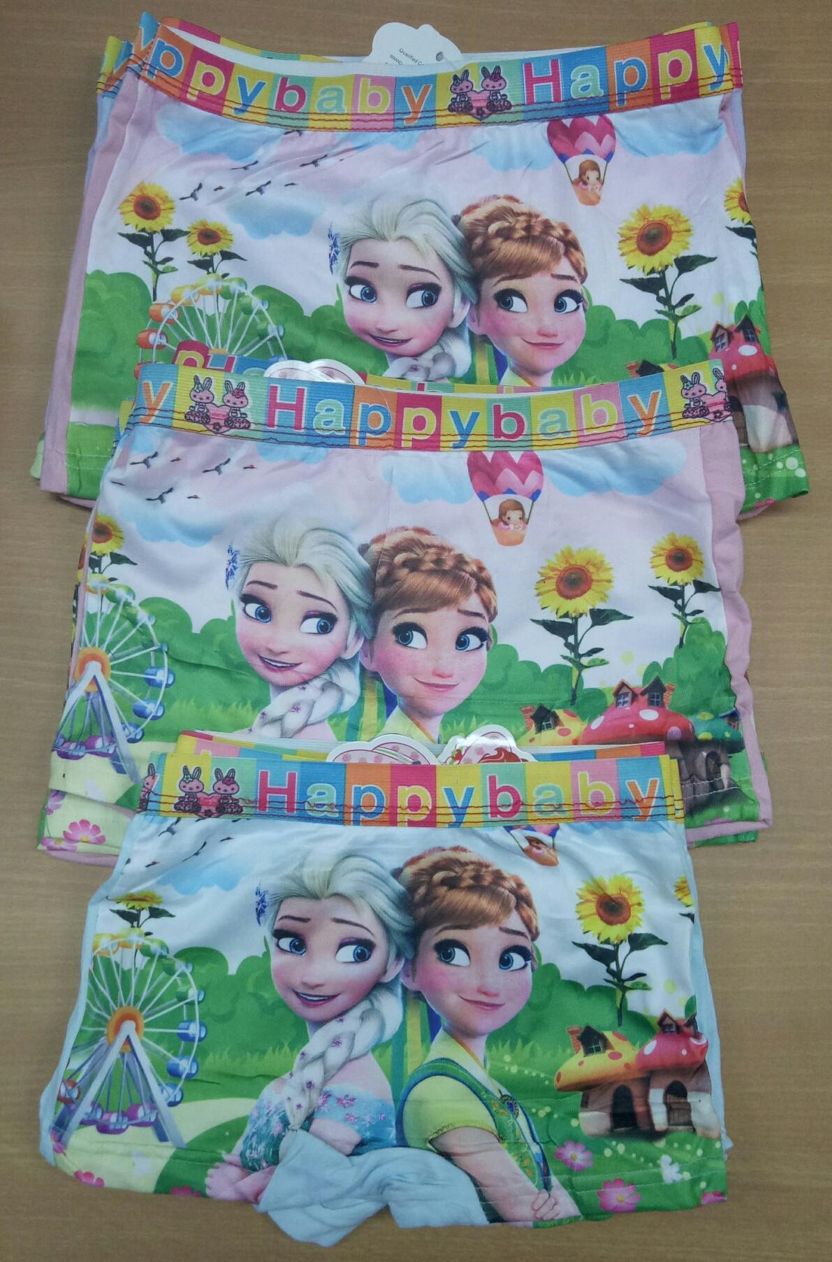 Celana Dalam Anak Perempuan Segiempat Soft Motif Frozen (2 pcs)