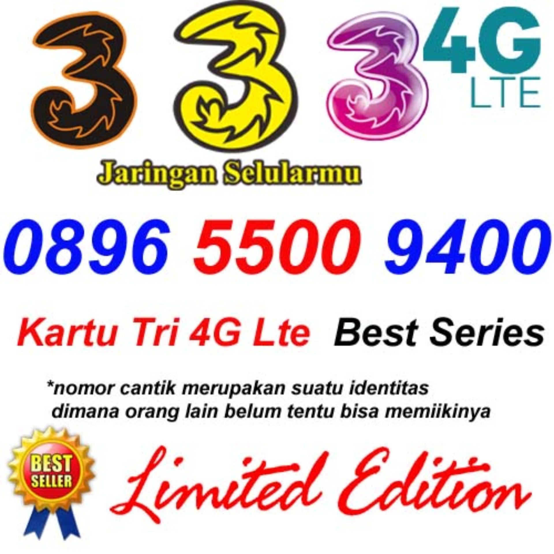 Kartu Perdana 3 atau Tri 0896 5500 9400 Nomor Cantik 4G Lte
