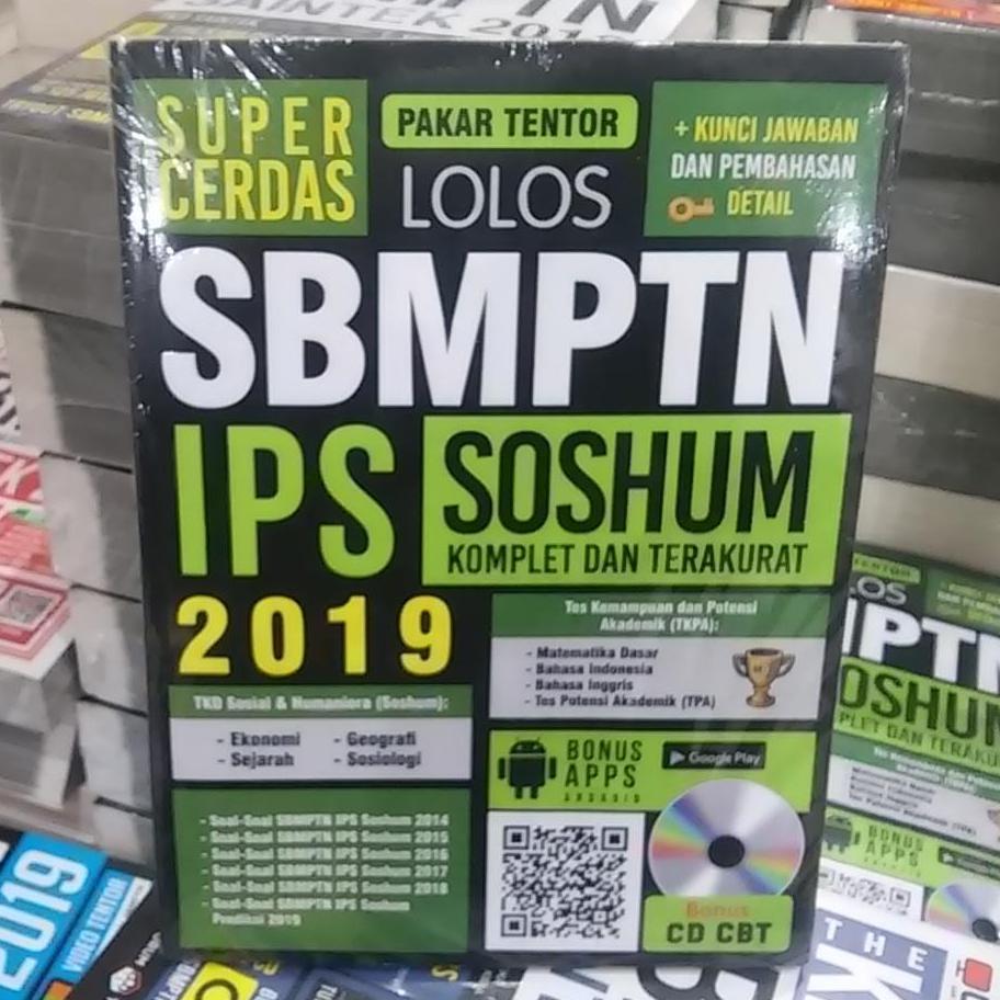 Buku SBMPTN 2019 : Super Cerdas Lolos SBMPTN IPS Soshum 2019 + CD CBT