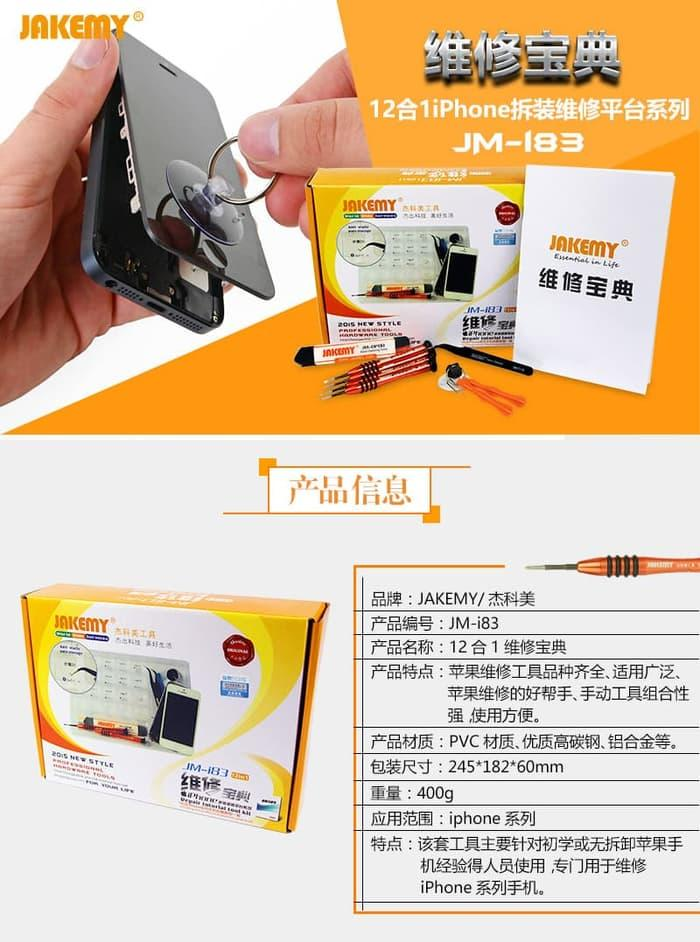 Jakemy 12 in 1 Repair Tools Screwdriver Kit for Smartphone - JM-I83
