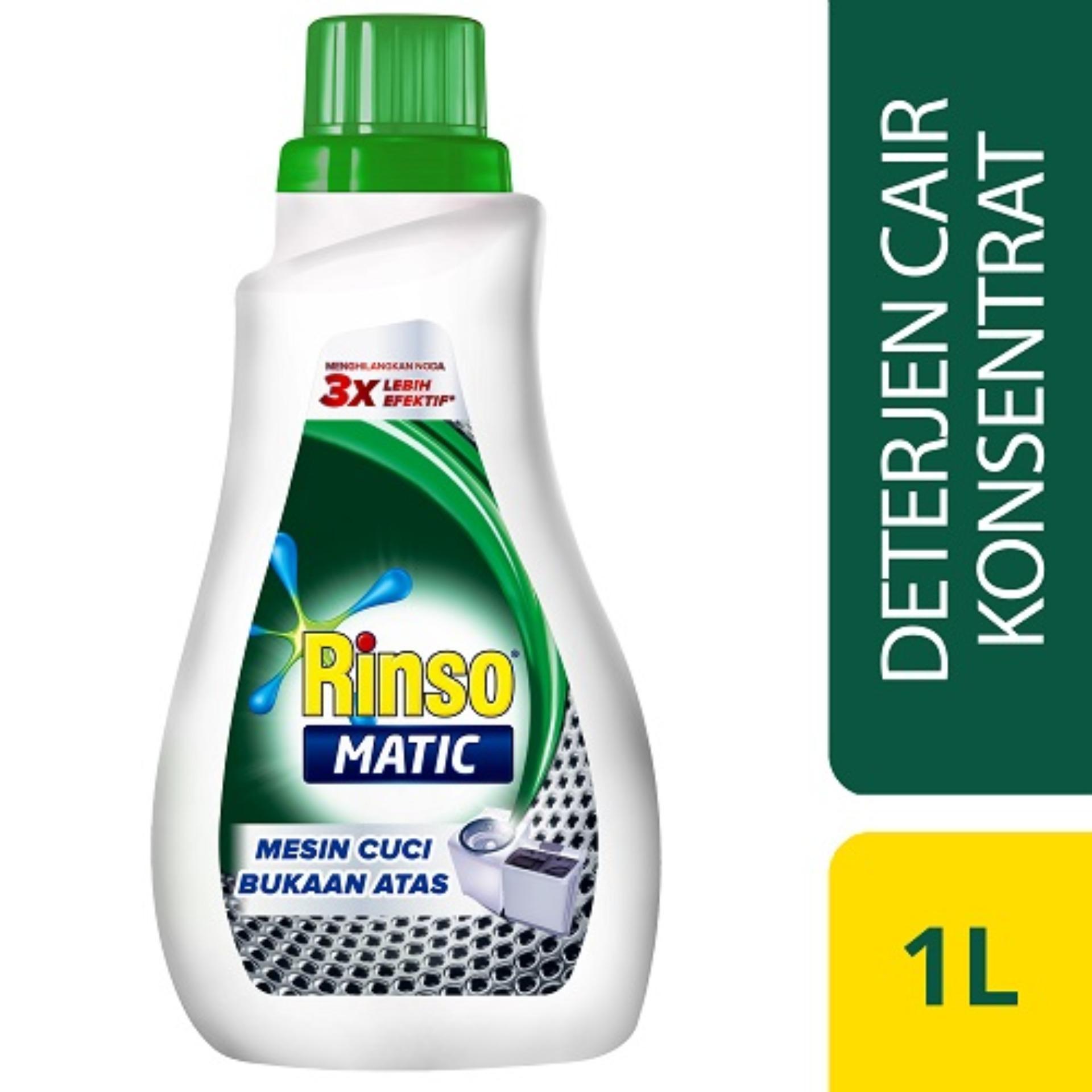 Rinso Matic Cair Mesin Cuci Bukaan Atas Botol - 1 L