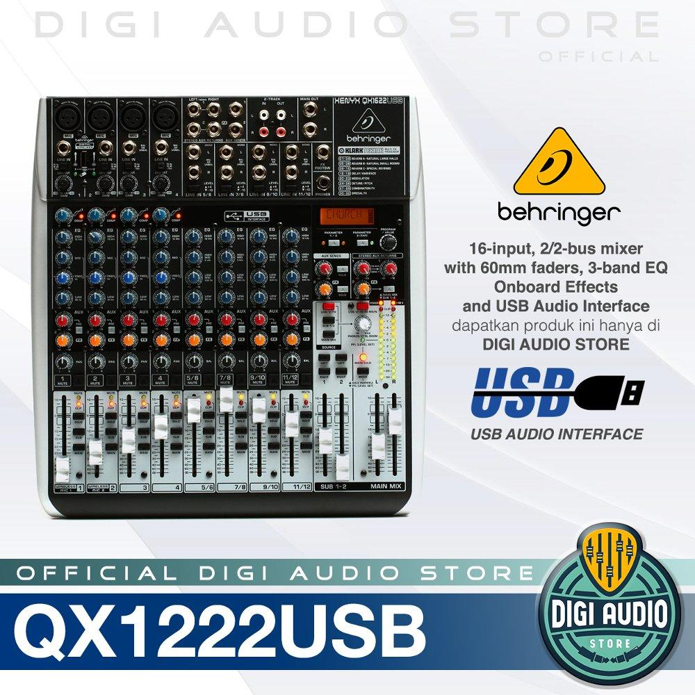 Audio Mixer Behringer Xenyx QX1622USB 16 Input 2-2-Bus - Equalizer - Multi FX Processor and USB Audio Interface - Soundcard