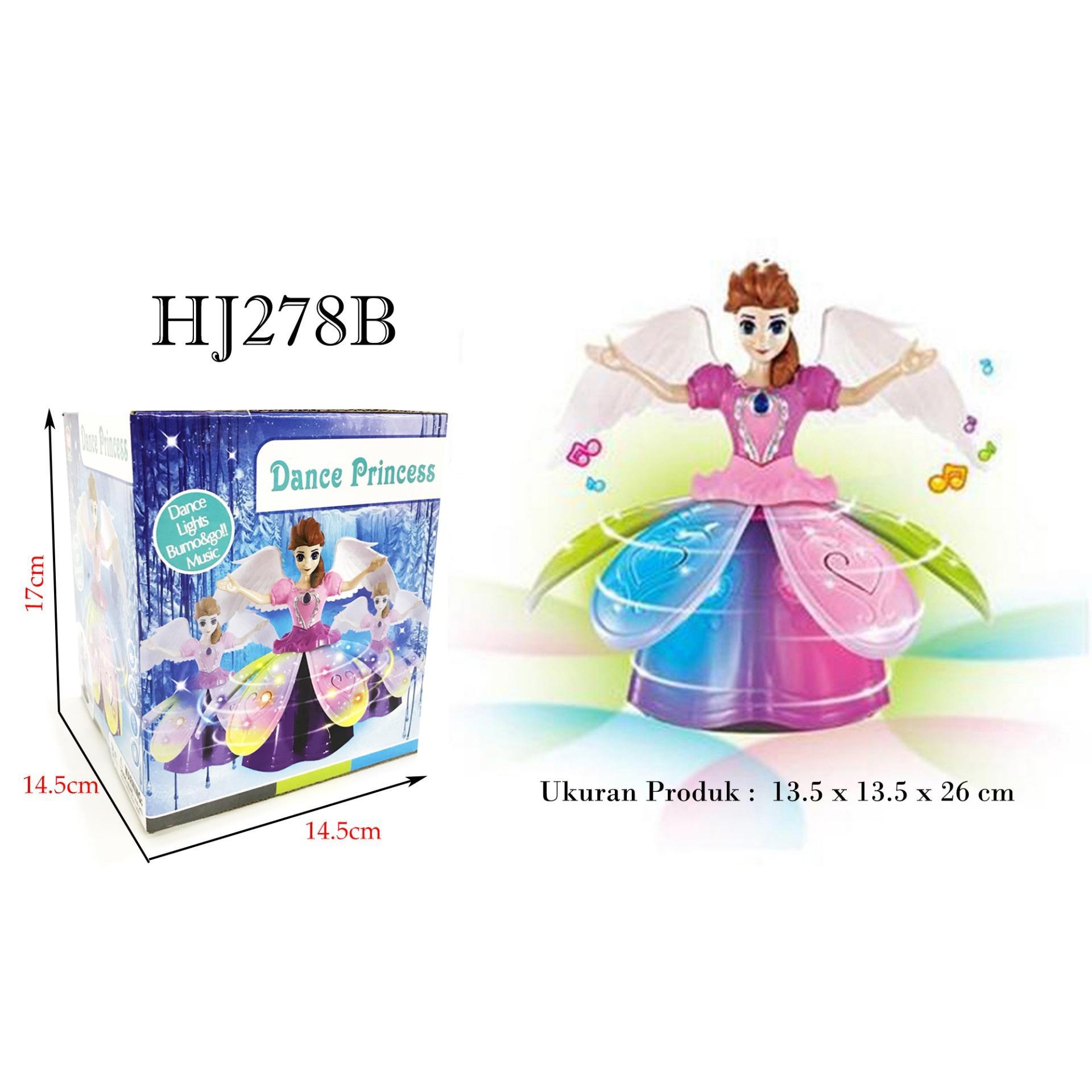 RKJ Mainan Anak Perempuan Dancing Princess Batere Bisa Mutar 360° HJ278B + FREE BATERAI A2